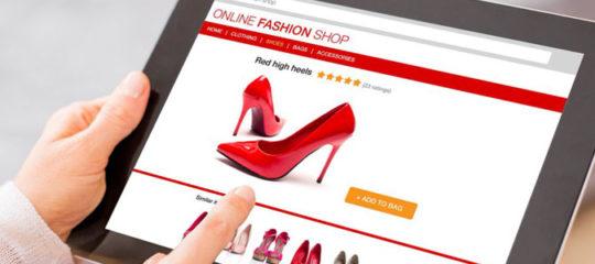 Vente en ligne de chaussures