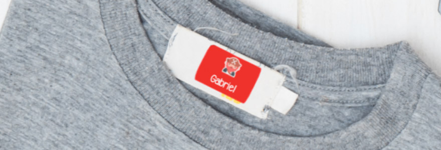 marquer le nom sur les vêtements